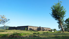 Pasillo de la audiencia del palacio del boko del ratu Foto de archivo libre de regalías