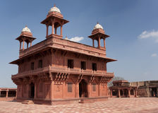Pasillo de la audiencia privada en el palacio de Fatehpur Sikri imágenes de archivo libres de regalías
