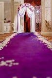 Pasillo de la boda Fotografía de archivo libre de regalías