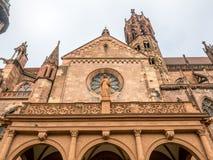 Pasillo de la catedral de la iglesia de monasterio de Friburgo Imagen de archivo
