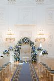 Pasillo de la ceremonia de boda Foto de archivo