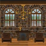 Pasillo de la chimenea stock de ilustración
