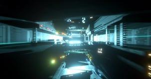 Pasillo de la nave espacial de la ciencia ficción stock de ilustración