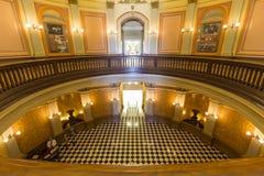Pasillo de la Rotonda del capitolio de California imágenes de archivo libres de regalías
