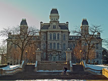 Pasillo de la universidad de Syracuse de lenguajes Imagen de archivo