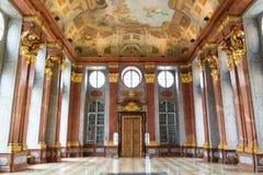 Pasillo de mármol de la abadía de Melk, Austria Fotografía de archivo libre de regalías