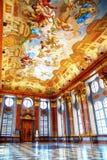 Pasillo de mármol del monasterio en Melk Fotos de archivo libres de regalías