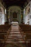 Pasillo de una iglesia vieja Fotografía de archivo