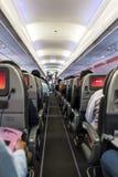 Pasillo del aeroplano Imágenes de archivo libres de regalías