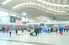 pasillo del aeropuerto Imagen de archivo libre de regalías