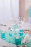 Pasillo del banquete adornado para casarse Imagen de archivo