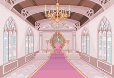 Pasillo del castillo ilustración del vector