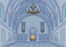 Pasillo del castillo stock de ilustración