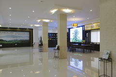 Pasillo del centro de intercambio cultural del té Imagen de archivo