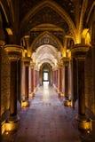 Pasillo del cuento de hadas del palacio de Monserrate Fotografía de archivo