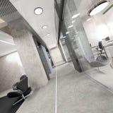 Pasillo del edificio de oficinas moderno Imagen de archivo