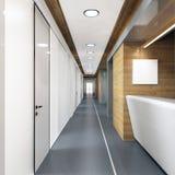 Pasillo del edificio de oficinas moderno Fotografía de archivo