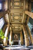 Pasillo del edificio del Bunker Hill - Fisheye Foto de archivo libre de regalías