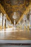 Pasillo del espejo del castillo francés de Versalles Fotos de archivo