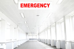 Pasillo del hospital de la emergencia Imagen de archivo libre de regalías