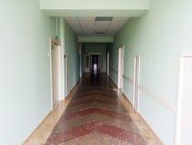Pasillo del hospital El hospital en Rusia Condiciones y reparación del edificio Fotografía de archivo
