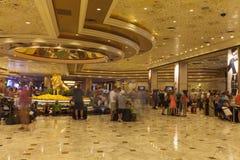 Pasillo del hotel de MGM en Las Vegas, nanovoltio el 6 de agosto de 2013 Foto de archivo libre de regalías