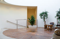 Pasillo del hotel del balneario Foto de archivo libre de regalías
