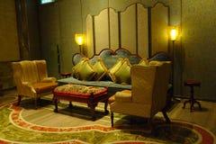 Pasillo del interior del casino del hotel de MGM de Macao Fotografía de archivo libre de regalías