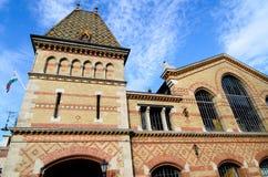 Pasillo del mercado central (Vasarcsarnok) en Budapest Imagen de archivo libre de regalías