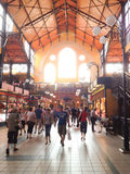 Pasillo del mercado en Budapest Foto de archivo