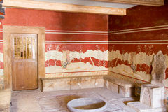 Pasillo del rey en Knossos foto de archivo libre de regalías