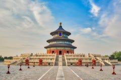 Pasillo del rezo para las buenas cosechas en el Templo del Cielo en Pekín imágenes de archivo libres de regalías