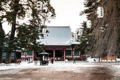 Pasillo del rezo del templo de Choson-ji del patrimonio mundial, Hiraizumi, Iwate imagen de archivo libre de regalías