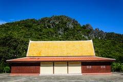 Pasillo del sermón en un monasterio Foto de archivo