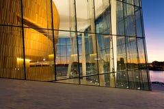 Pasillo del teatro de la ópera en puesta del sol fotos de archivo libres de regalías