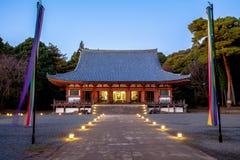 Pasillo del templo de Daigoji en Kyoto Foto de archivo libre de regalías