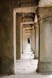 Pasillo del templo de TA Prohm Imagen de archivo