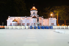 Pasillo del trono de Anantasamakom Imagen de archivo libre de regalías