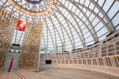 Pasillo dentro de la bóveda del museo bielorruso del gran patriótico Fotos de archivo libres de regalías