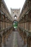 Pasillo en la abadía de Jedburgh Foto de archivo libre de regalías