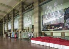 Pasillo en la construcción de Naciones Unidas Imagen de archivo