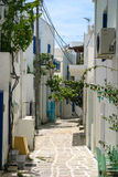 Pasillo en la isla griega Imágenes de archivo libres de regalías