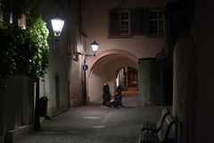 Pasillo en la noche Fotos de archivo libres de regalías