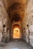 Pasillo en ruinas del coliseo más grande, África del Norte EL Jem, Túnez, la UNESCO Fotos de archivo