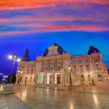 Pasillo España de Ayuntamiento de Cartagena Murciacity Imagenes de archivo