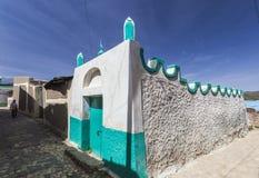 Pasillo estrecho en la ciudad de Jugol por la mañana Harar etiopía Foto de archivo