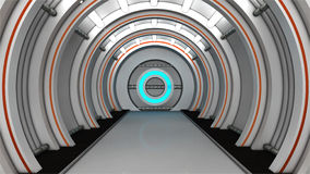 Pasillo futurista Imagenes de archivo
