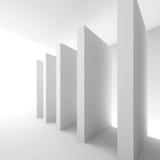 Pasillo futurista blanco Imagen de archivo libre de regalías