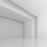 Pasillo futurista blanco Foto de archivo libre de regalías