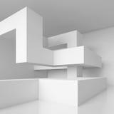 Pasillo futurista blanco Fotografía de archivo